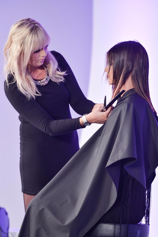 Molbys hair stylist at work at Tigi Awards